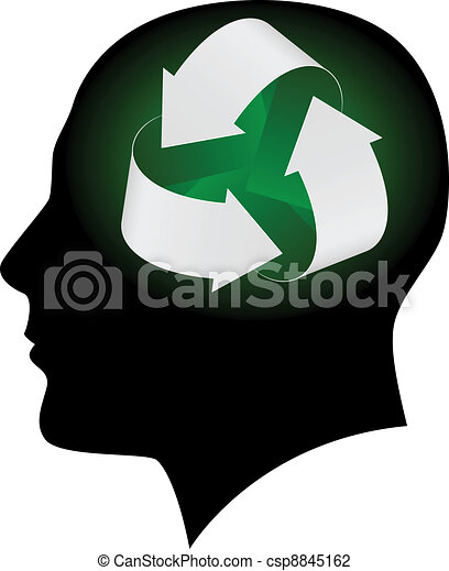 Ecology symbol in human head - csp8845162