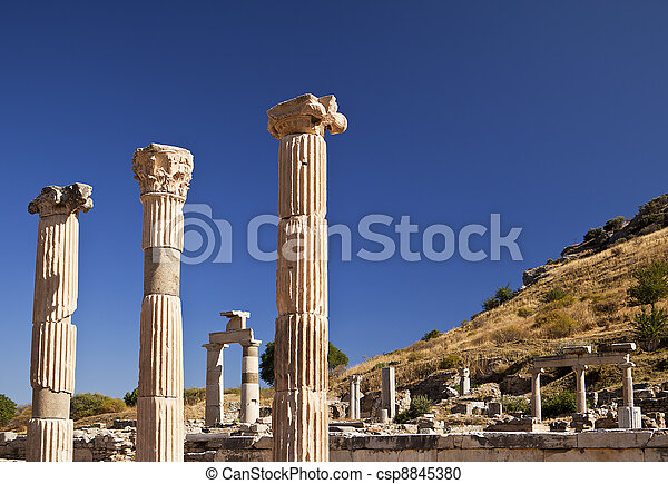 Ancient Pillars of Ephesus - csp8845380