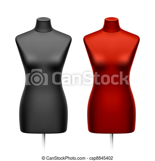 Female tailors dummy, mannequin - csp8845402