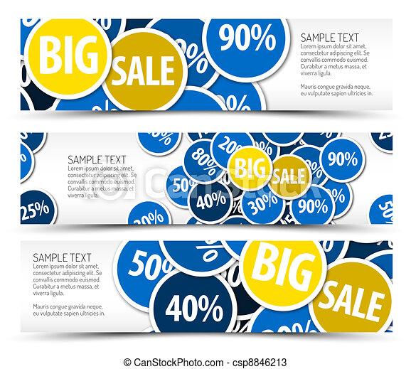Set of big sale horizontal banners - csp8846213