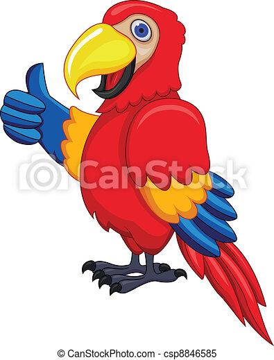 Parrot Cartoon - csp8846585