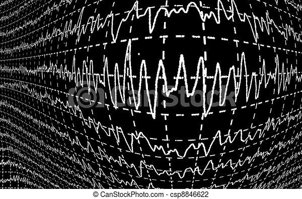 Brain Waves Brain Wave Eeg Isolated on
