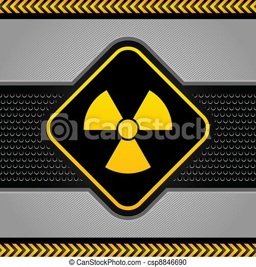 Radioactive symbol, abstract background industrial template - csp8846690