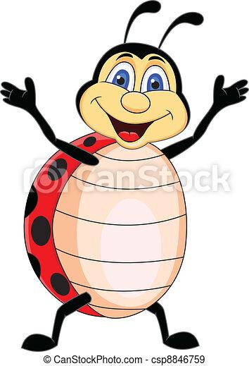 Funny Ladybug Cartoon - csp8846759