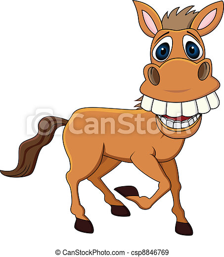Funny horse - csp8846769