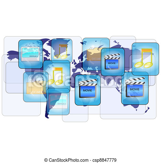 Online file sharing with world map - csp8847779