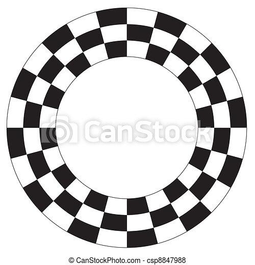 Checkerboard Frame, Spiral Pattern - csp8847988