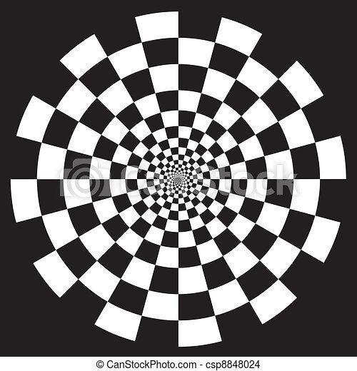Checkerboard Spiral Design Pattern - csp8848024