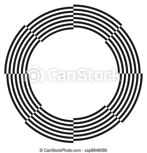 Spiral Design Illusion Frame - csp8848086