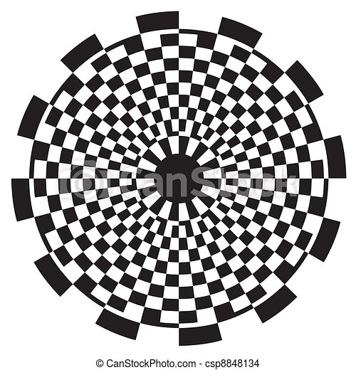 Checkerboard Spiral Design Pattern - csp8848134