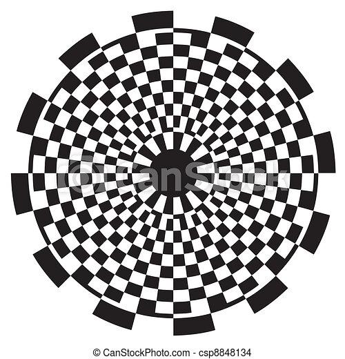 Checkerboard Spiral Design Pattern - csp8848134