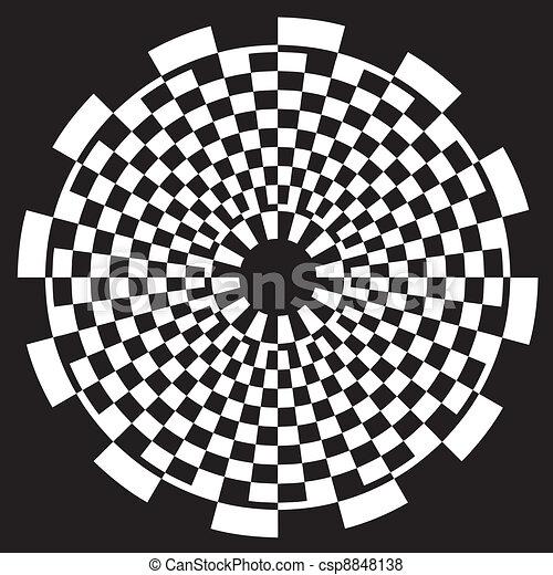 Checkerboard Spiral Design Pattern - csp8848138