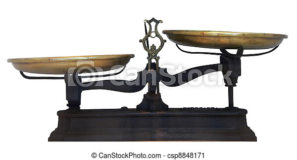 Antique metal table scales - csp8848171