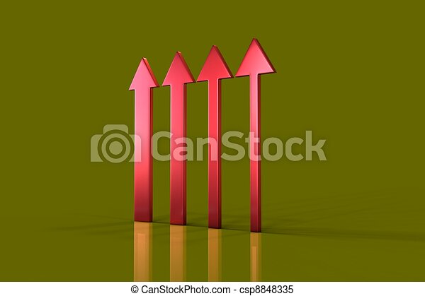 Up arrow on green background - csp8848335
