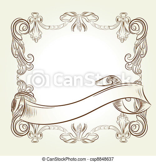classic vintage victorian frame - csp8848637