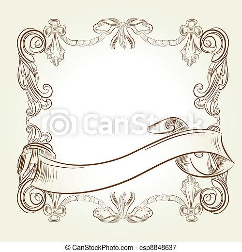 classic vintage victorian frame - csp8848637