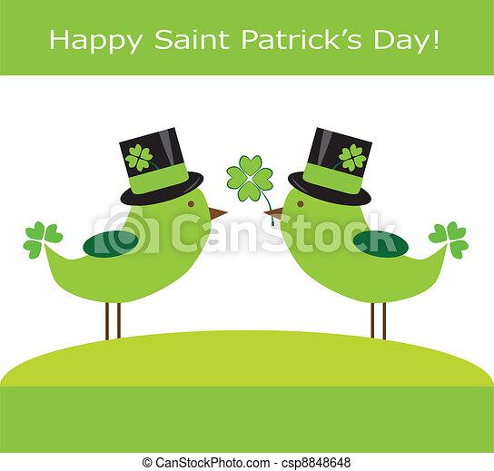 Saint Patrick's Day Birds - csp8848648