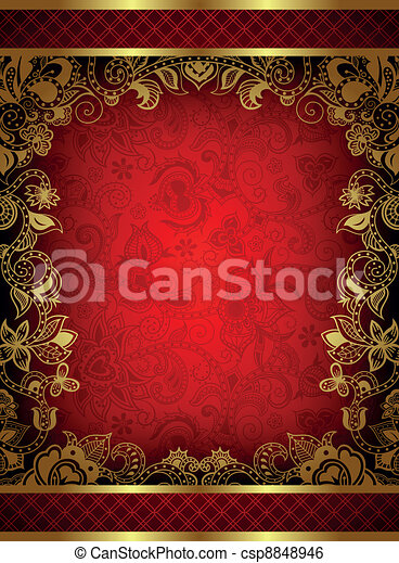 Menu Cover Design - csp8848946