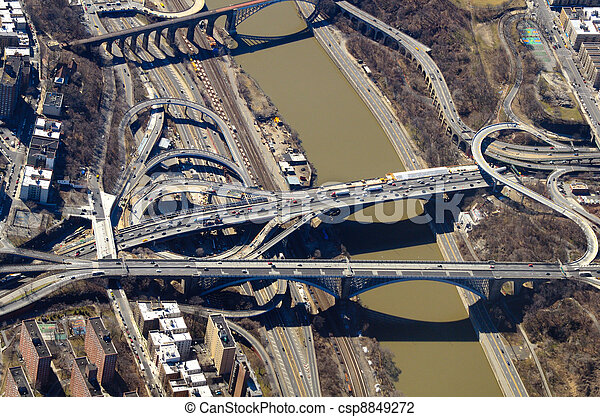 Roads and Bridges Aerial View - csp8849272