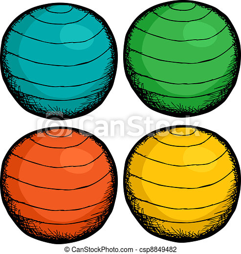 Pilates Ball Colors - csp8849482