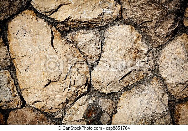 Background of stone wall texture - csp8851764