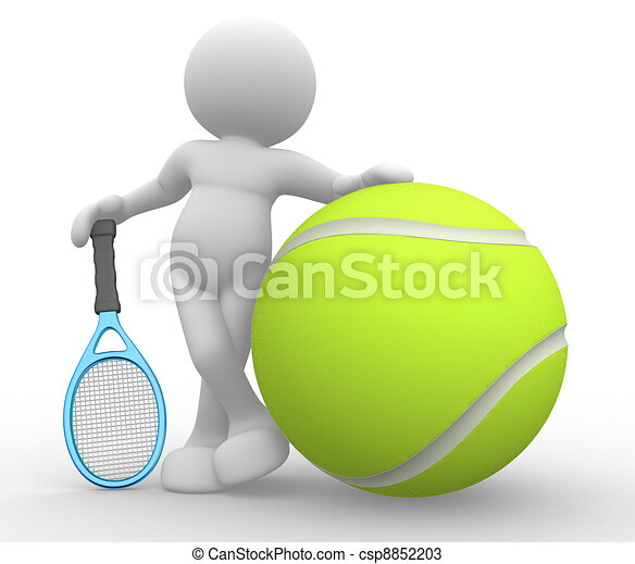 Tennis player - csp8852203