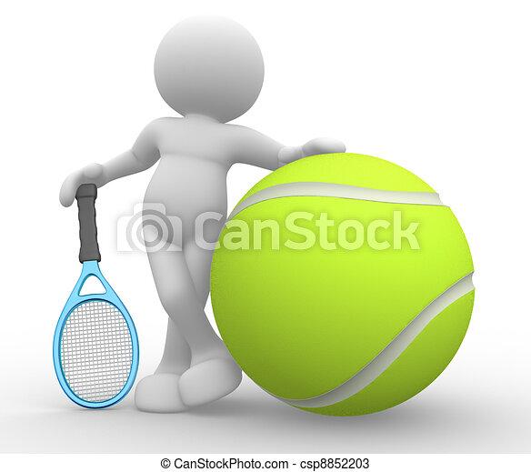 Tennis player - csp8852203