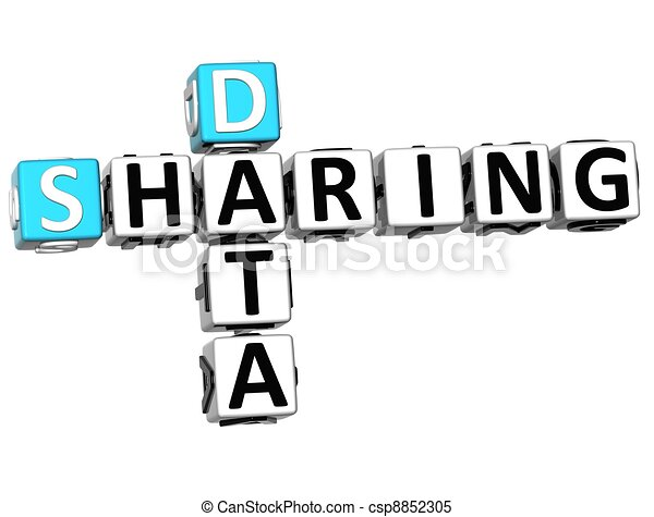 3D Sharing Data Crossword cube words - csp8852305