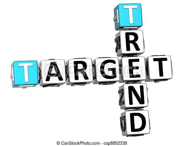 3D Trend Target Crossword cube words - csp8852338