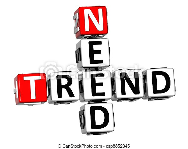 3D Need Trend Crossword cube words - csp8852345