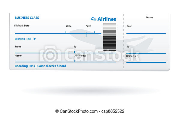 Airline boarding pass blank - csp8852522