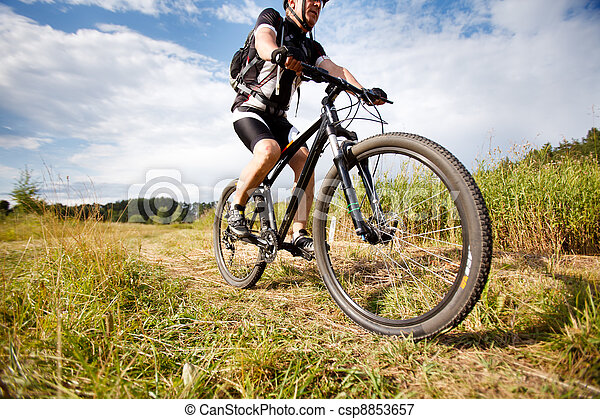 Mountain biker - csp8853657