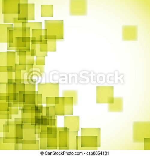Abstract yellow square background - csp8854181