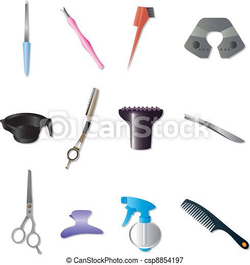 hairdressing KIT - csp8854197