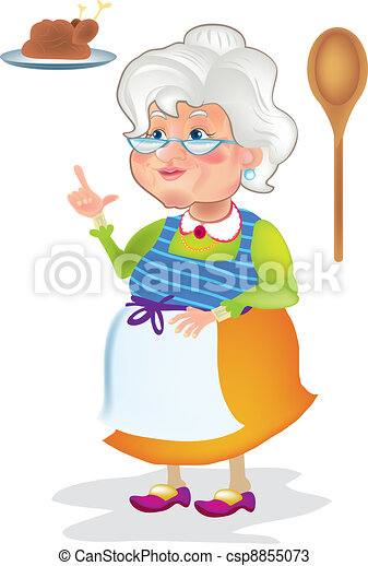 Grandma cooking - csp8855073