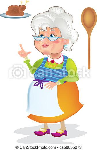Grandma cooking - csp8855073