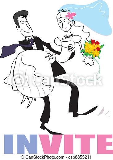 Wedding couple - csp8855211