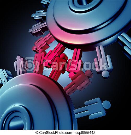 Employee Friction - csp8855442