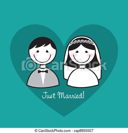just married - csp8855507