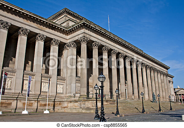 Exterior of St Georges Hall, Liverpool, UK. - csp8855565