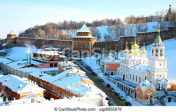 John Baptist Church and Kremlin Nizhny Novgorod Russia - csp8855970
