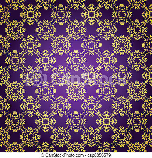 Purple & gold background - csp8856579
