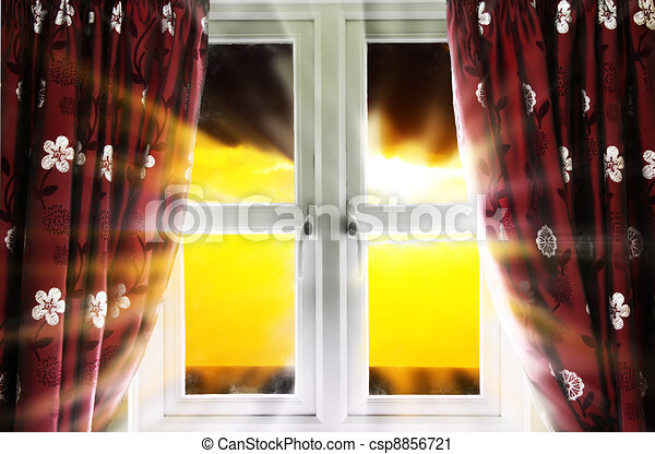 Modern window and sunlight - csp8856721