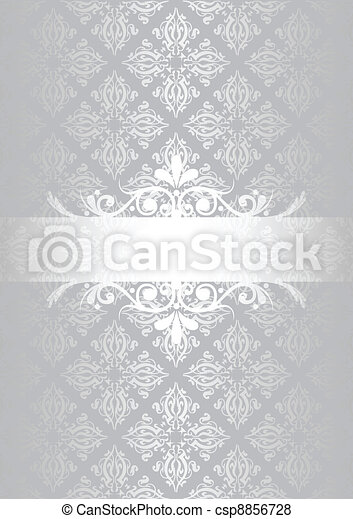 Silver vintage background - csp8856728