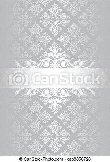 Silver vintage background - csp8856728