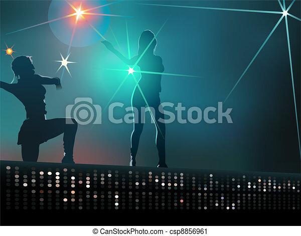 Dancing girls - csp8856961