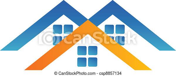 Houses logo design - csp8857134