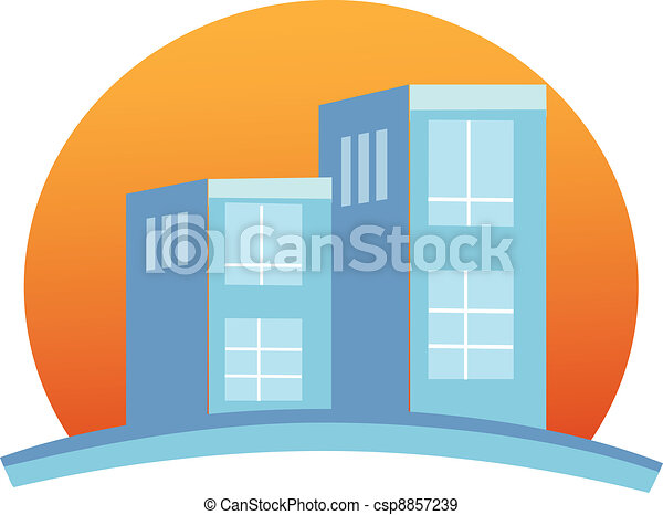 Apartments building logo - csp8857239