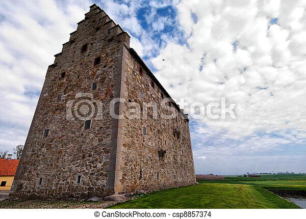 glimmingehus castle panorama 02 - csp8857374