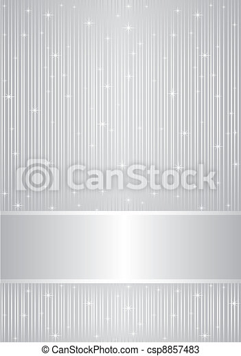 Vector silver background with spark - csp8857483